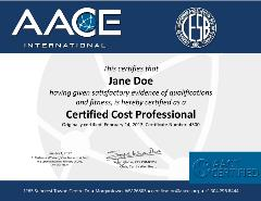 AACE Certificate for purchase