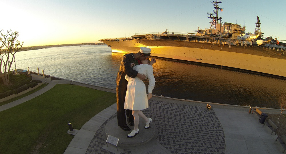 USS Midway's Kissing Statue